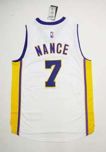 New Style Los Angeles Clothing Lakers #7 Larry Nance Jr. Lakers white AVP2402