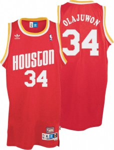 Official Jersey Houston Rockets 34 Hakeem Olajuwon Throwback Soul Swingman Red YLB1931