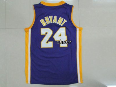 Online Cheap Kids Los Angeles Lakers Basketball #24 Bryant purple YVX2081