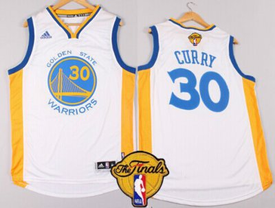 Shop Cheap Golden State Warriors #30 Stephen Curry White Jerseys 2016 The Finals Patch CLI30