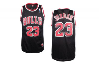 The Cheapest Gear Chicago Bulls 23 Michael Jordan Black With Bulls QLB830