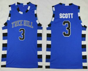 Top Quality Jersey The Movie One Tree Hill 3 Lucas Scott Blue Swingman Basketball ALM1501