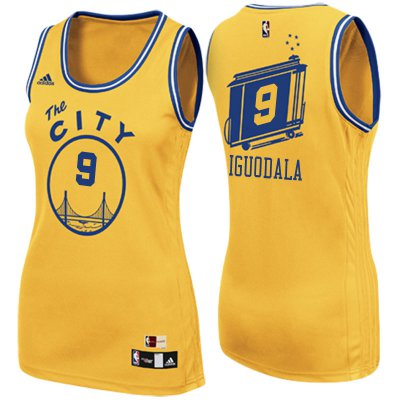 Wholesale Cheap Women's 2017 Mother's Day Golden State Warriors #9 Andre Jerseys Iguodala The City Gold Swingman XEK4230