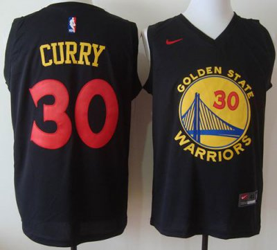 2018 Cheap Online Warriors #30 Stephen Curry Black Basketball Stitched VRX1601