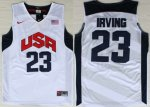 Authentic USA Basketball 23 Kyrie Irving white Gear XOZ4093