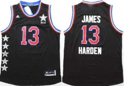 Beautiful Gear 2015 All Star Western Conference Houston Rockets #13 James Harden Black Stitched TLM142