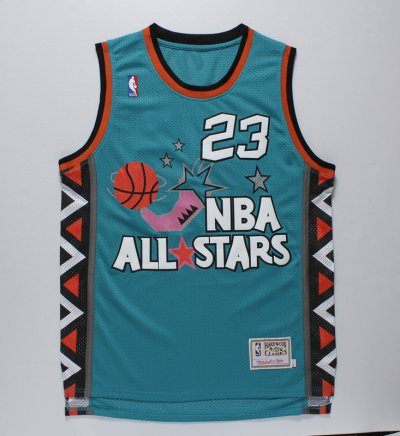 Big Discount Michael Jordan 1996 Jersey Year all star game green REU144