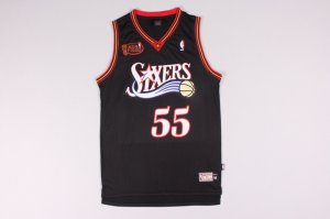 Buy #55 Mutombo 76ers final black (heat applied) Merchandise BJK3270