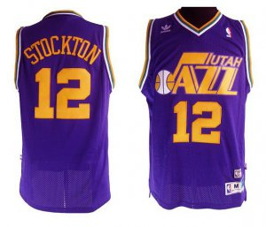 Buy cheap Stockton Utah Jazz #12 purple NBA OXV4163