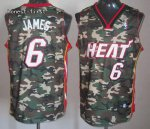 Cheap Online Sale Miami Heat #6 LeBron Clothing James Camouflage LZO2689