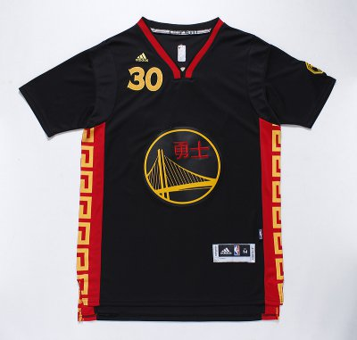 Comfortable 2015 with chinese word Golden State NBA Warriors #30 curry black PZR1785
