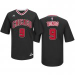 Discount holidays Chicago Bulls #9 Rajon Rondo Road Black Pride Sleeved Jersey Swingman SEY698