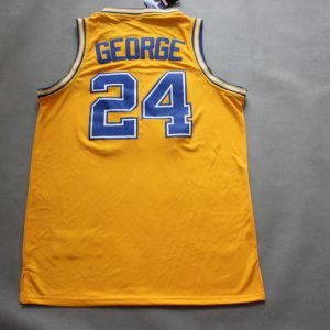 Fine fabric Paul George #24 Indiana Clothing Pacers retro yellow BKT2026