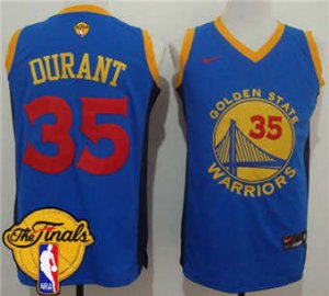 Genuine Warriors #35 Kevin Jerseys Durant Blue Red No. The Finals Patch Stitched JSP1866
