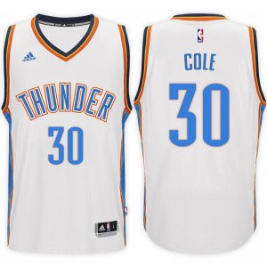 High cost performance Oklahoma City Thunder #30 Norris Cole 2016 NBA 17 Home White Swingman VAS3090