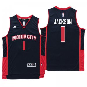Hot Deal Jersey Detroit Pistons #1 Reggie Jackson Motor City Navy Blue Swingman HMW1375