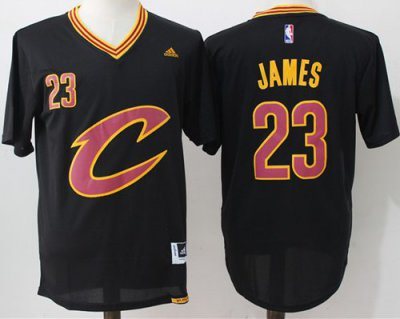 Hot Sale Online Cavaliers #23 LeBron James Jersey Black Short Sleeve C Stitched UGT1024