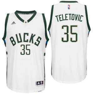 Hot Sale Online Milwaukee Bucks Mirza Teletovic 2016 Home White Swingman Jersey EQK2811