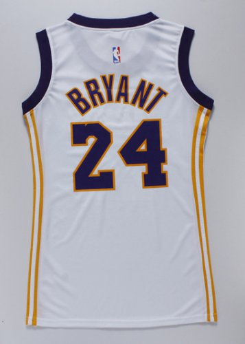 Hot Sale Online Women Los Angeles Lakers 24 Kobe Bryant WHITE Gear IKB4286