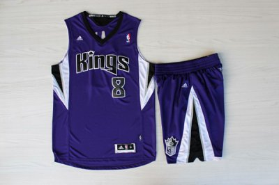Hot Sale Sacramento Kings #8 Rudy Gay Purple With Shorts NBA Suit VHT4534