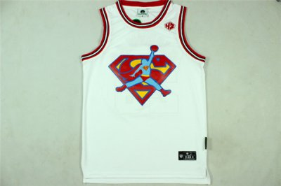 Many offers KISS FUNK Jersey Superman Flight Man #23 Michael Jordan Revolution 30 Swingman White YZU740