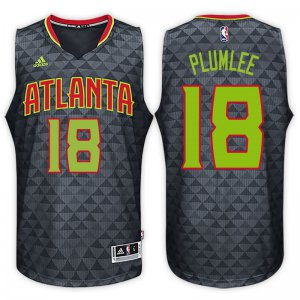 New Cheap Atlanta Hawks #18 Miles Plumlee Alternate Black NBA Swingman DID350