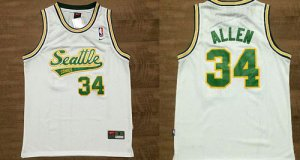 New Style Thunder #34 Ray Jersey Allen White Throwback Stitched HNG3108