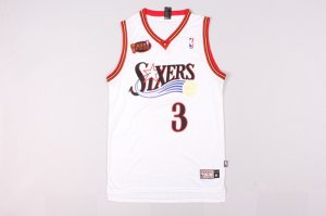 Novelty #3 Iverson 76ers final white Merchandise (heat applied) LFW3269
