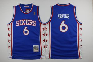 Official Quality Philadelphia 76ers #6 NBA erving blue 2016 The Season QVQ3264