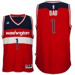 On the fabric Father's Day Gift Washington Wizards #1 Dad Logo Road Jerseys Swingman Red PKJ4189