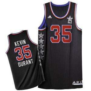 Online Hot 2015 All Star NYC Western Conference #35 Kevin Durant Jersey Black YRX172