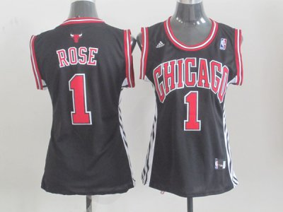 Online Sale 2018 Chicago Bulls #1 Rose Black Women Basketball GXX4339