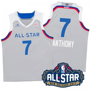 Order 2017 Orleans All Star Eastern Conference Knicks #7 Carmelo Anthony Merchandise Gray IJF335