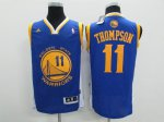 Order Golden Jersey State Warriors #11 Klay Thompson Revolution 30 Swingman Road KGP1769