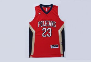 Promotional sale Orleans Hornets 23 davis Jerseys red INQ2915