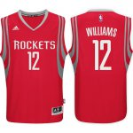 Quick-drying fabric Houston Rockets #12 Lou Williams 2016 17 Road Gear Red Swingman XAC1899