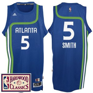 Real Atlanta Hawks #5 Josh Smith 2016 17 Jerseys Season Royal Hardwood Classics Throwback Swingman VHP360
