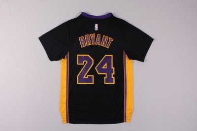 The Latest Los Angeles Lakers 24 Kobe Bryant Black Basketball Merchandise T Shirt MCF2459