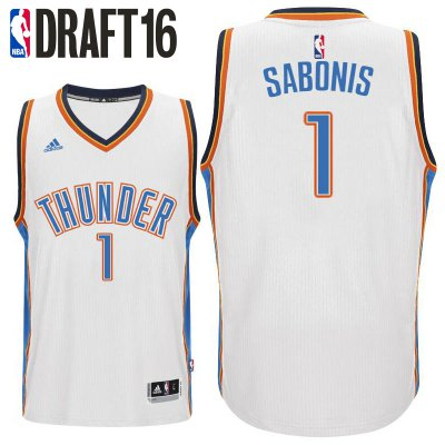 Thin versio 2016 Draft Pick Oklahoma City Thunder #1 Domantas Jerseys Sabonis White Home Swingman SED3102