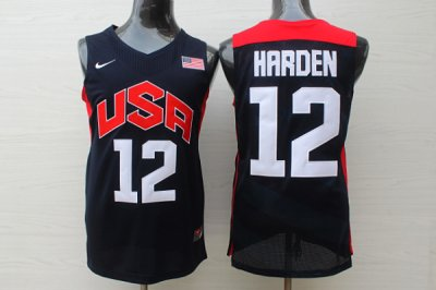 Top Quality Basketball James Harden Men Clothing black Team USA #12 2012 Olympics YTF4024