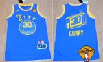 Top Quality Golden Merchandise State Warriors #30 Stephen Curry Retro Blue 2016 The Finals Patch RRT27