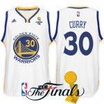 special 2017 Finals Champions Patch Golden State Warriors #30 Stephen Apparel Curry White Swingman UPH1540