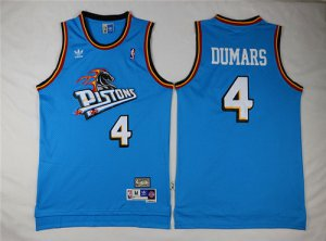 unequaled Detroit Pistons #4 Apparel Joe Dumars Teal Green Hardwood Classics Soul Swingman Throwback UBD1401