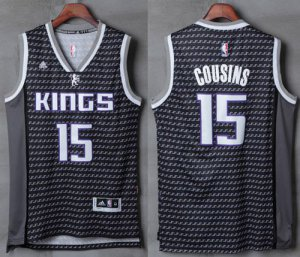 100% Hight Quality Kings #15 DeMarcus Basketball Cousins Black Stitched XJS3541