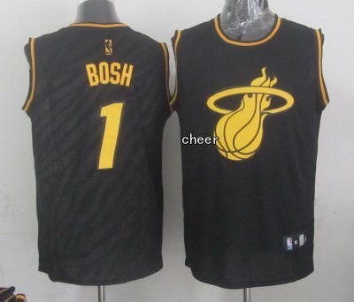 2018 Cheap Online Miami Apparel Heat #1 bosh black NPU2640