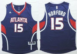 2018 Online Atlanta Hawks #15 Al Horford Blue Apparel Stitched Revolution 30 HFY385