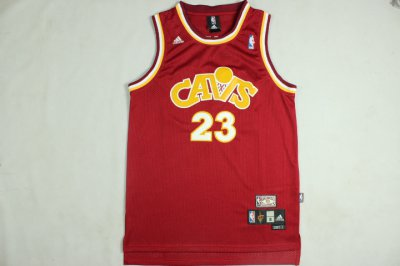 2018 Online Cheap Lebron James Cleveland Cavaliers Throwback red Jersey FEV1188