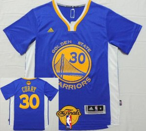 Assorted colors Golden State Warriors #30 Stephen Curry Blue Short Clothing Sleeved White 2016 The Finals Patch EBJ23