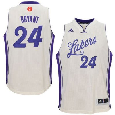 Assorted colors Lakers #24 Kobe Gear Bryant White 2015 2016 Christmas Day Stitched PDN998