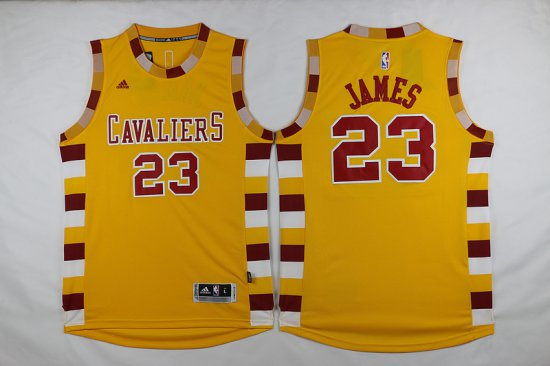 on sale e97f7 35d74 Buy Online Cavaliers #23 LeBron James Gear Yellow Throwback ...